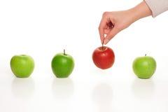 Sélection de la pomme différente Image stock