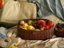 Sélection de laine de fil Photographie stock libre de droits