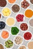 Sélection de nourriture biologique Photographie stock