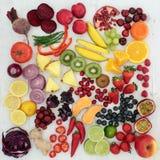 Sélection de nourriture biologique Image libre de droits
