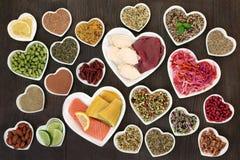 S?lection de nourriture biologique de r?gime images libres de droits