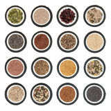 Sélection de nourriture de graine images stock