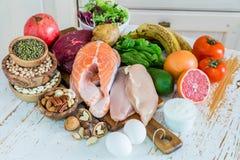 Sélection de nourriture pour la perte de poids Photos libres de droits