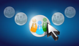 Sélection de personnes d'icône de la Communauté dans le curseur Image stock