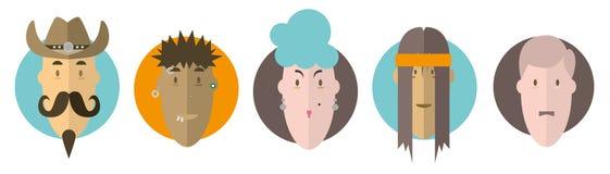 Sélection de visages Image stock