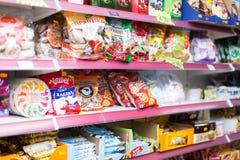 Sélection des bonbons et des gâteaux Image libre de droits
