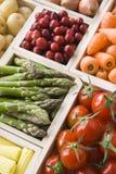 Sélection des fruits et légumes frais Photographie stock libre de droits