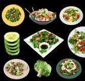 Sélection des salades Image libre de droits