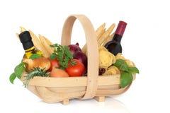 Sélection italienne de nourriture images stock