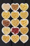 Sélection italienne de pâtes Images stock