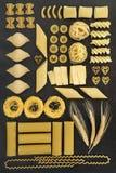 Sélection sèche de pâtes image stock