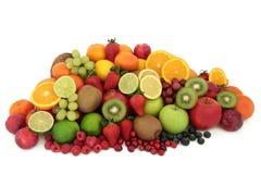 Sélection saine de fruit frais Images libres de droits