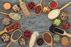 Sélection superbe de nourriture photographie stock