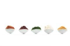 Sélection superbe de nourriture biologique de nourriture dans la cuillère images libres de droits