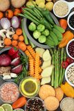 Sélection superbe saine de nourriture Image stock