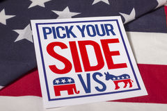 Sélectionnez votre élection présidentielle latérale Images stock