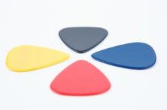 Sélections colorées de guitare Photographie stock