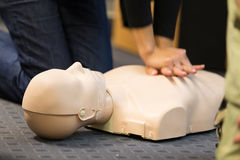 Séminaire de CPR de premiers secours photos libres de droits