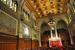 Sénat du Parlement, Ottawa, Canada Photos stock