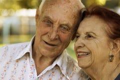 Séniores no amor Imagens de Stock Royalty Free