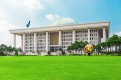 SÉOUL, CORÉE - 14 AOÛT 2015 : Assemblée nationale Hall de marche à suivre - capitol sud-coréen de République, situé sur l'île de  Photographie stock libre de droits