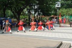 SÉOUL, CORÉE - 14 AOÛT 2008 : représentation d'arts martiaux au Photos stock
