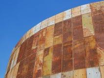SÉOUL, CORÉE DU SUD - 22 SEPTEMBRE 2017 : Une partie de réservoir de stockage de pétrole rustique en parc de culture de réservoir Images libres de droits