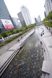 Séoul - fleuve artificiel Images libres de droits
