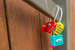 SÉOUL - 28 MARS : Cadenas d'amour à la tour de N Séoul Photo stock