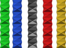 Séparateur géométrique coloré Photographie stock