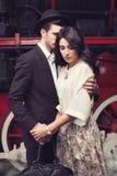 Séparation de beaux couples Photos stock