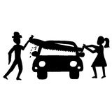 Séparation de biens de conjoint illustration de vecteur