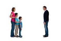 Séparation de famille de concept de divorce photos libres de droits