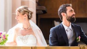 Séparation de jeunes mariés Images libres de droits