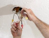 Séparation des fils électriques Image stock