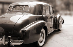 Sépia classique de voiture de vintage Image stock