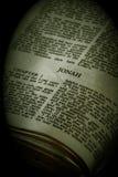 Sépia de Jonas de série de bible Photo stock