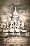 Sépia de Sacre Coeur Photographie stock libre de droits