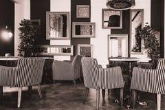 Sépia de salon de vintage Images libres de droits