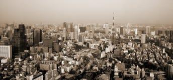 Sépia de Tokyo Photographie stock