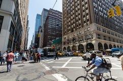 Séptima avenida Foto de archivo libre de regalías