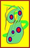 Sérénité dans l'illusion, salut dans les travaux illustration libre de droits