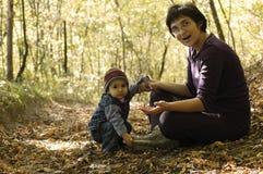 Sérénité dans les bois Photographie stock libre de droits