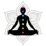 Sérénité et yoga pratiquant, méditation Photo stock