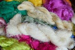 Sériciculture et fil de soie Photographie stock libre de droits