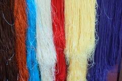 Sériciculture et fil de soie Photo libre de droits