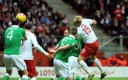 Série éliminatoire 2016 d'EURO Pologne contre le représentant de l'Irlande photos stock