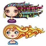 Série 2 das meninas da forma ilustração royalty free