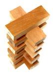 Série 5 do bloco de madeira fotografia de stock