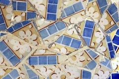 Série 6 da telha, Guell Parc foto de stock